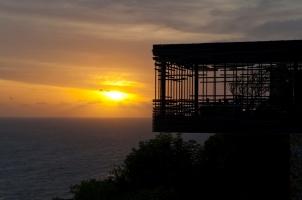Alila Villas Uluwatu - cliff edge cabana sunset
