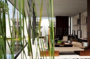 Alila Villas Uluwatu - lobby livingroom