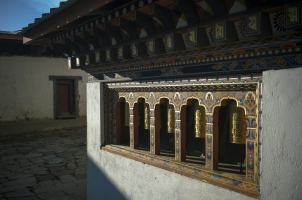 Amankora Gangtey - Dzong Prayer Scrolls