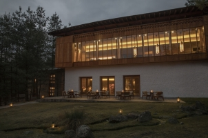Amankora Paro - Lounge and Dining Room Exterior