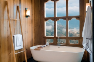 Bhutan - Six Senses Thimphu - Bathtub