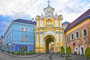 Lithuania Basilian monastery gate in the old town in Vilnius