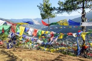 Bhutan - View onto Thimphu City