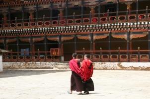 Bhutan - Monks