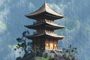 Bhutan - Zen Buddhist temple - entrance