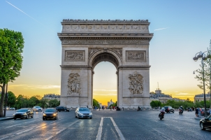 France - Arc de Triomphe in Paris