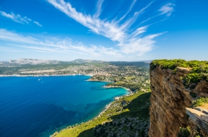 France - Cliff in the bay of Cote d'Azur