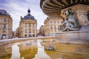 France - Place de la Bourse in the city of Bordeaux