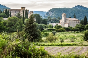 France - View of Lourmarin