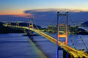Hong Kong - Tsing Ma Bridge
