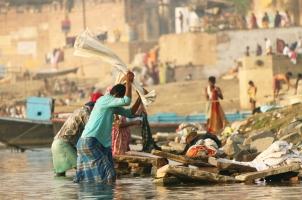 India - Dhobighat at Varanasi