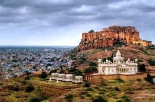 India - Jodhpur Mehrangharh Fort Jaswant Thada mausoleum