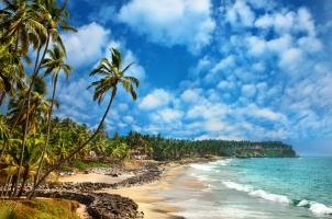 India - Odayam beach Varkala Kerala