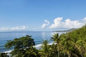 Indonesia - ocean view from walkway