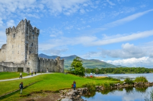 Ireland - Ross Castle on a sunny morning