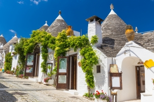 Italy - Alberobello with trulli houses