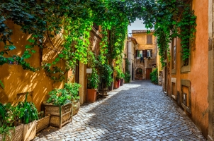 Italy - old street in Rome