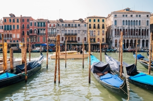 Italy - Venetian grand canal and old street
