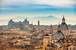 Italy - Rome, View form Castel Sant Angelo