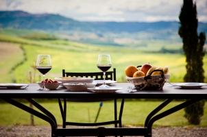 Italy - lunch with a view