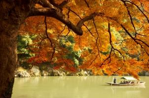 Japan - Kyoto - Boat check at Hoshinoya Resort