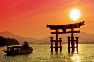 Japan - Torii Gate Miyajima Sunset