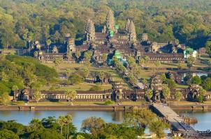 Cambodia - Aerial view Angkor Wat