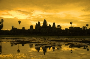 Cambodia - Siem Reap - Angkor Wat at sunrise