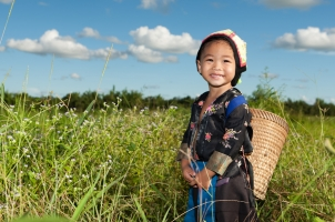 Laos little girl