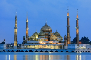 Malaysia - crystal mosque in Kuala Terengganu