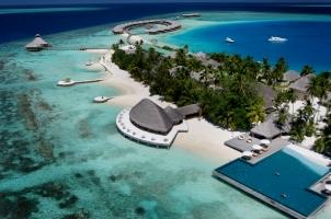Maledives - Huvafen Fushi Aerial