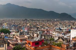 Nepal - panoramic view to kathmandu