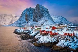 Norway - fishing Village on Lofoten Island