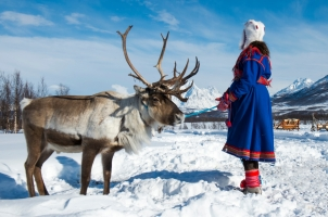 Norway - traditional dressed Sami woman