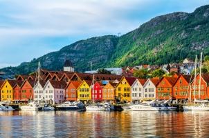 Norway - View of historival buildings in Bryggen