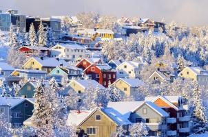 Norway - City of Tromso in winter
