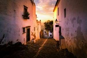 Portugal - sunset of Monsaraz village in Alentejo region