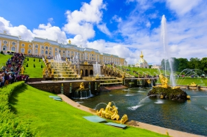 Russia - Peterhof Palace at St. Petersburg