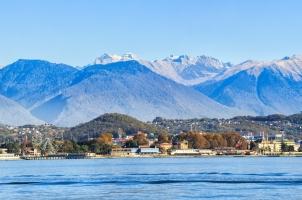 Russia - View from Sochi - Mountain of Caucasian Ridge