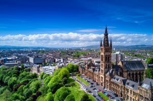 Scotland - Aerial view of Glasgow