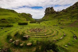 Scotland - Stone circle - fairy glen isle of skye