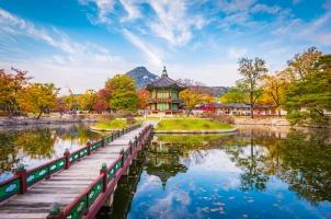 Südkorea - Autumn of Gyeongbokgung Palace in Seoul
