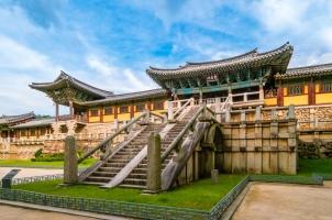 Südkorea - Beautiful Jahamun gate and beomyeongnu of Bulguksa Temple in Gyeongju