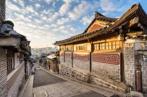 Südkorea - Bukchon Hanok Village in Seoul