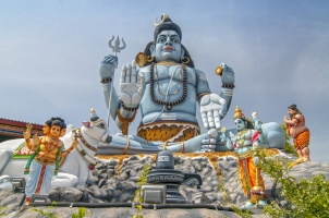 Sri Lanka - The Giant statue of god shiva
