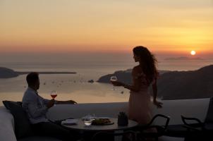 Omma Santorini - Sunset Dinner Time