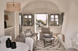 Vedema Santorini - Olympian Villa Living  Room