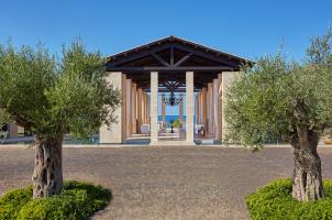 The Romanos Costa Navarino - Garden with Lobby
