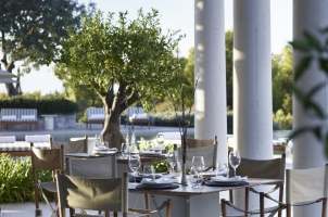 Amanzoe - Main Pool Restaurant Terrace