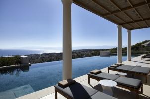 Amanzoe - Villa Pool and View of Aegean